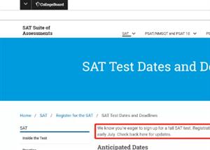 最新!CB官方将延期开放下半年SAT考试报名!2021-2022年SAT考试时间放出!